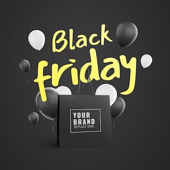 Pubblicità di shopping bag del black friday
