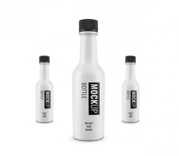 Pubblicità realistica di mockup di bottiglie spaziali