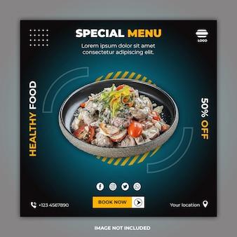 Publicación de banner de redes sociales de alimentos