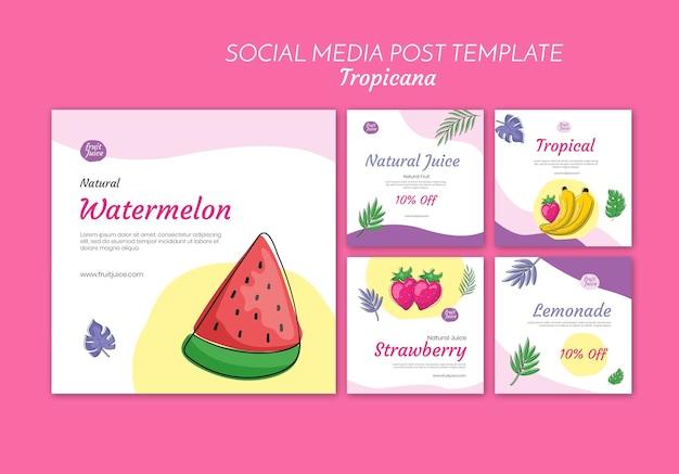 Publicación de bebidas en las redes sociales