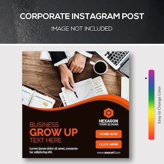 Publicación corporativa de instagram