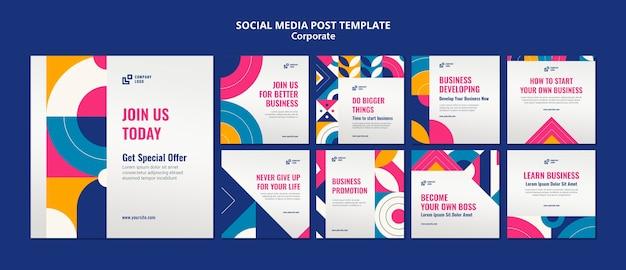 Publicación corporativa en redes sociales