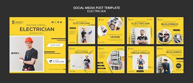 Publicación de electricista en las redes sociales