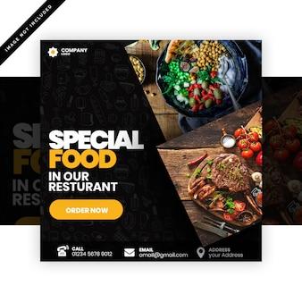 Publicación especial de comida para redes sociales