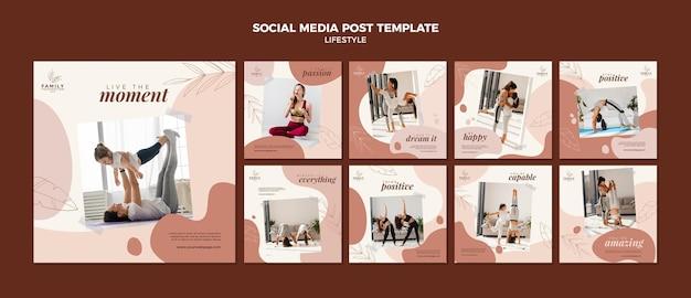 Publicación de estilo de vida en las redes sociales