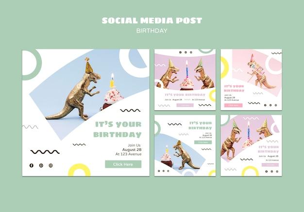 Publicación de feliz cumpleaños en redes sociales