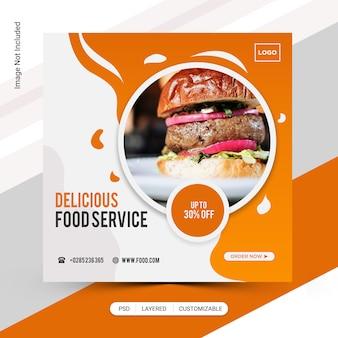Publicación de instagram de burger
