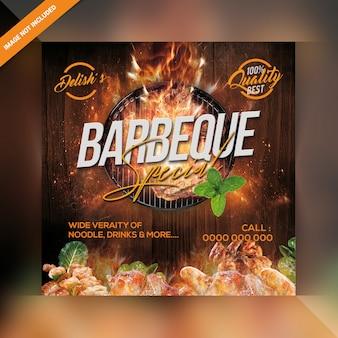 Publicación de instagram de comida a la parrilla caliente