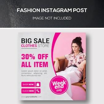 Publicación de instagram de moda