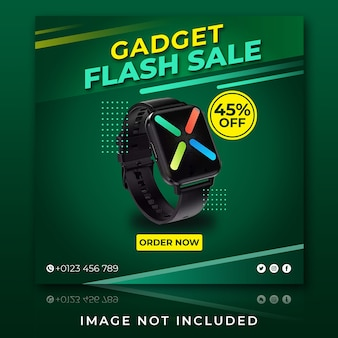 Publicación de instagram de venta flash de gadget de reloj inteligente