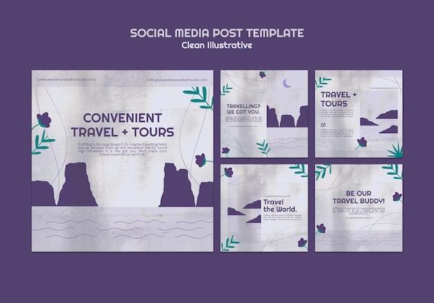 Publicación limpia e ilustrativa en redes sociales