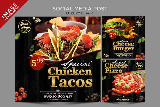 Publicación de lujo en redes sociales