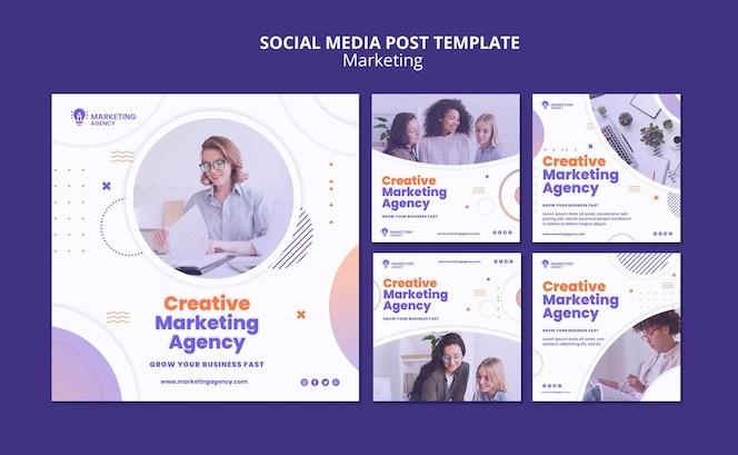 Publicación de marketing creativo en redes sociales