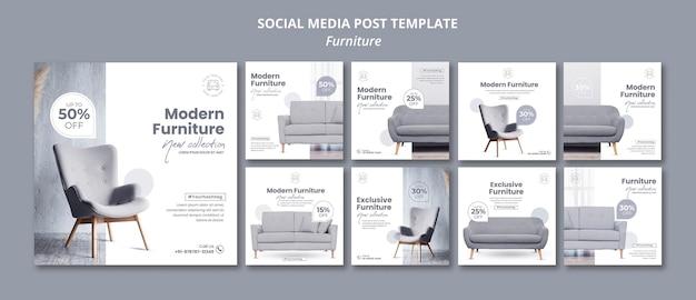 Publicación de muebles en redes sociales