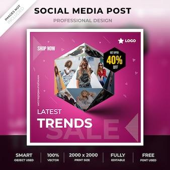 Publicación en redes sociales 3d