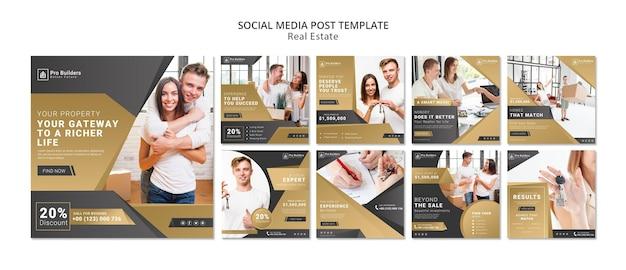 Publicación de redes sociales de bienes raíces