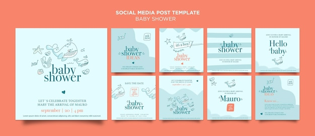 Publicación en redes sociales de celebración de baby shower