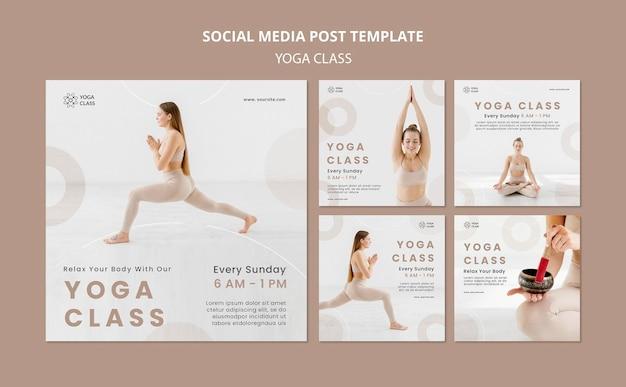 Publicación en redes sociales de clase de yoga