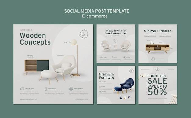 Publicación de redes sociales de comercio electrónico