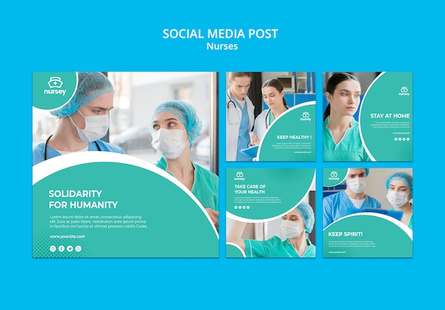 Publicación de redes sociales de concepto de salud