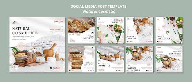 Publicación en redes sociales de cosmética natural