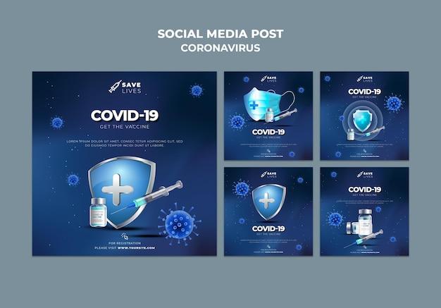 Publicación en redes sociales de covid 19