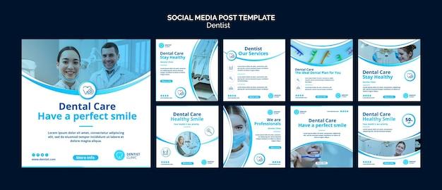 Publicación de redes sociales de dentista