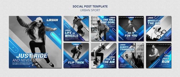Publicación de redes sociales de deporte urbano
