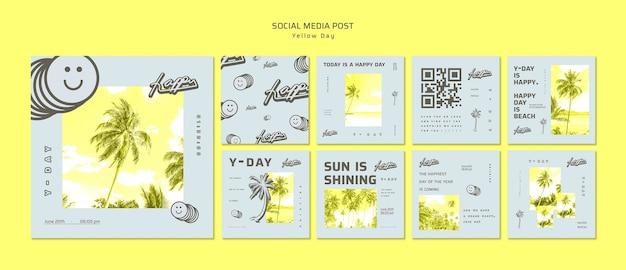 Publicación de redes sociales del día amarillo
