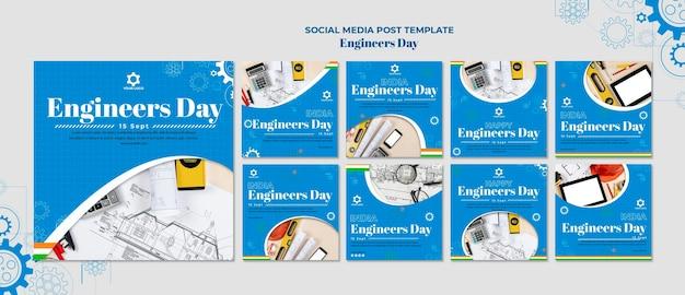 Publicación en redes sociales del día del ingeniero