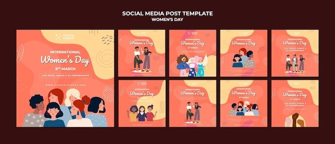 Publicación en redes sociales del día internacional de la mujer