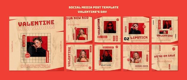 Publicación en redes sociales del día de san valentín