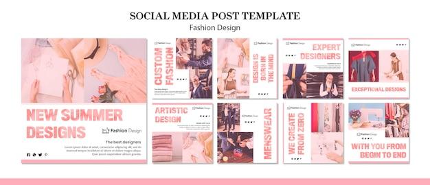 Publicación en redes sociales de diseño de moda