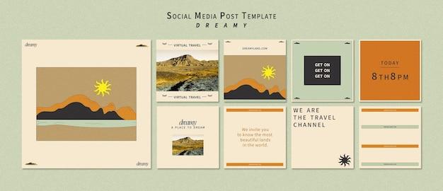 Publicación en redes sociales de dreamy place