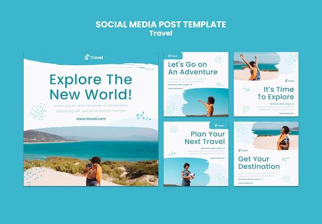 Publicación de redes sociales de exploración mundial