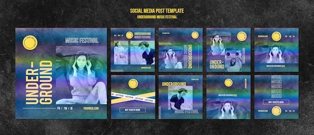 Publicación en redes sociales del festival de música underground