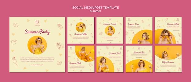 Publicación en redes sociales con fiesta de verano