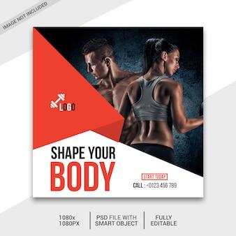 Publicación de redes sociales de fitness
