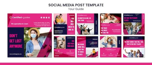 Publicación en redes sociales del guía turístico
