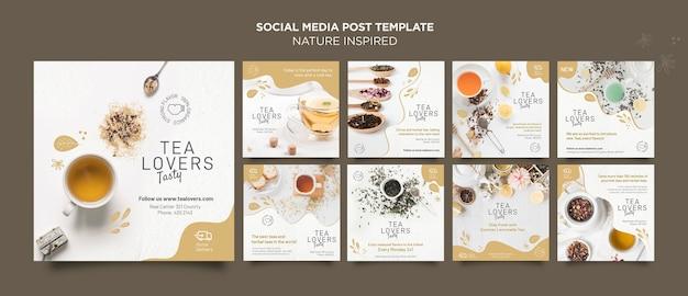 Publicación en redes sociales inspirada en la naturaleza