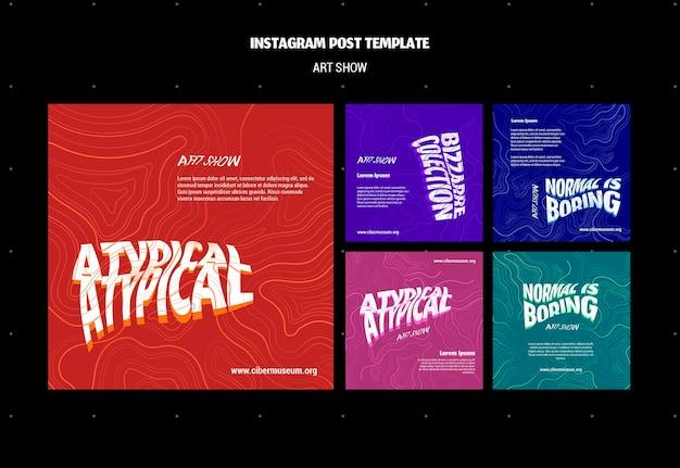 Publicación en redes sociales de la muestra de arte