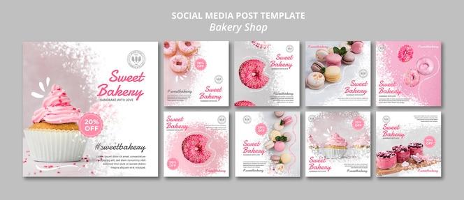 Publicación en redes sociales de panadería