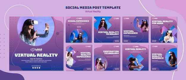 Publicación en redes sociales de realidad virtual