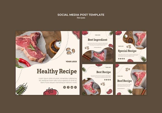 Publicación en redes sociales de recetas