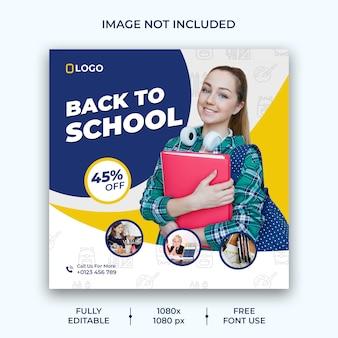Publicación en las redes sociales de regreso a la escuela