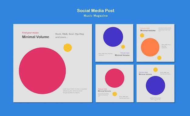 Publicación en redes sociales de revista musical
