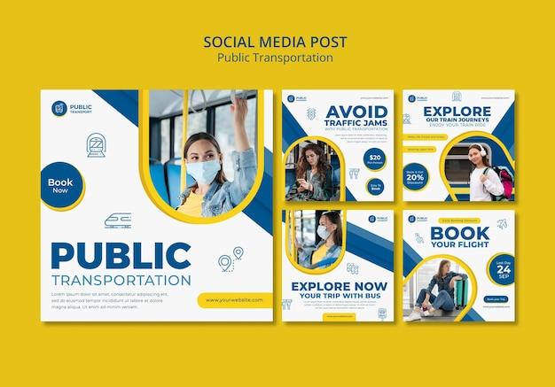 Publicación en redes sociales de transporte público