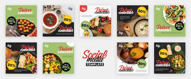 Publicación saludable y bio en redes sociales