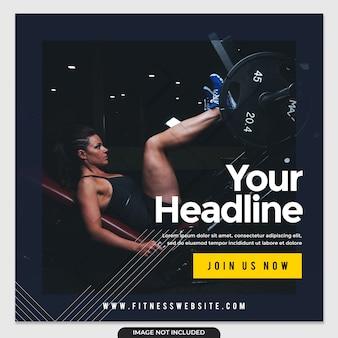 Publicación simple en redes sociales de fitness