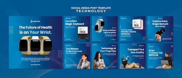Publicación de tecnología en redes sociales